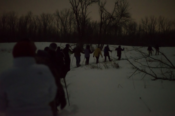 3) Snowshoeing.