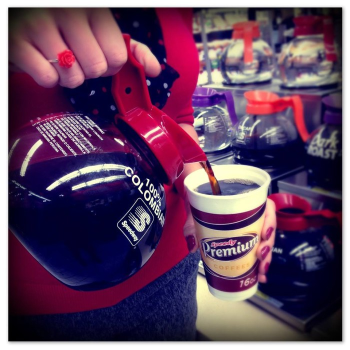 3) Gas station coffee from Speedway