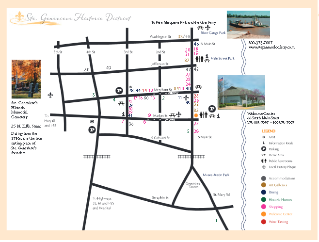 Map of historic district