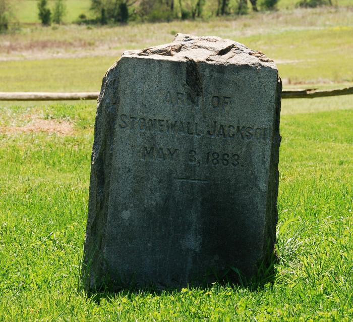 "4. The Grave of ""Stonewall"" Jackson's Arm, Ellwood Plantation, Wilderness"