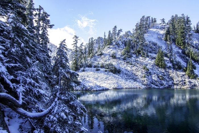 10. Gem Lake, located at the foot of Wright Mountain in the Snoqualmie region. A true winter wonderland!