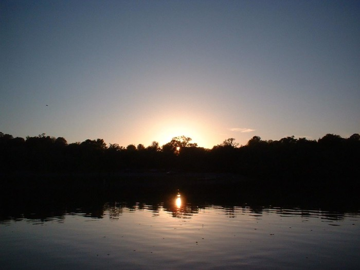 2) A Tennessee lake at sunset - you'll never see a sight more beautiful