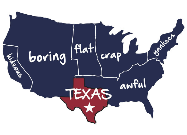8 Funny Maps of Texas