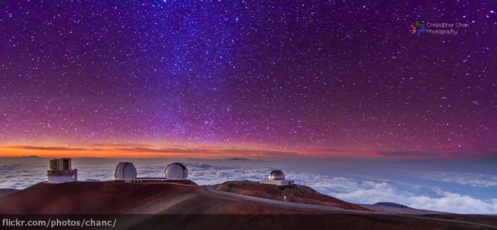 9) The brilliant night sky – as seen at Mauna Kea's observatory – makes me wonder about life on other planets.