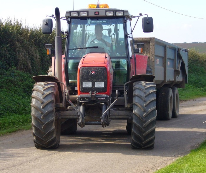 12. Pulling out onto the road behind a tractor.