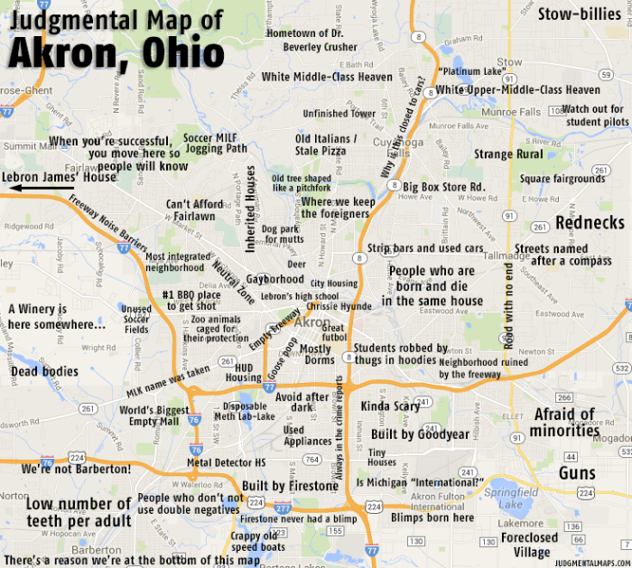 Humorous Stereotypical Maps Of Ohio - Map ohio