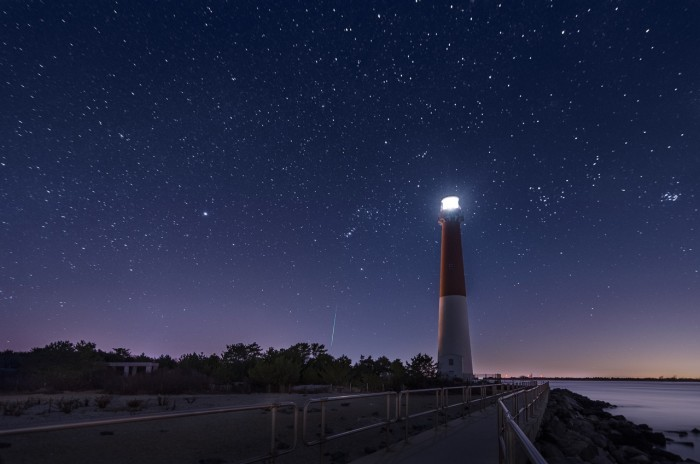 8. You CAN see stars in New Jersey. This spectacular shot of a meteor was taken near Barnegat Light.