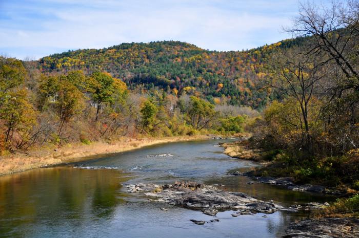 3.The White River Ledges in Sharon, VT.