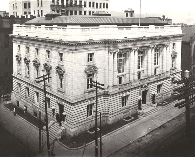 3. Here's a 1907 photo of the federal courthouse in Wheeling. It was formerly a post office.