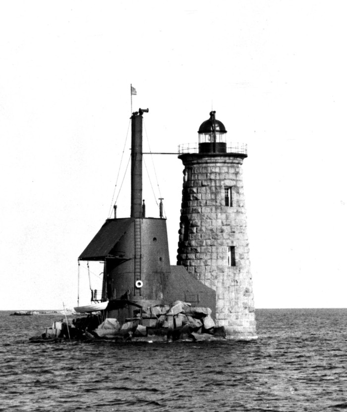 5. Whaleback Lighthouse in Kittery (circa 1950)