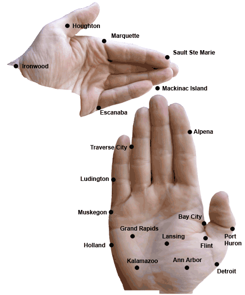 2) That hand map, though.