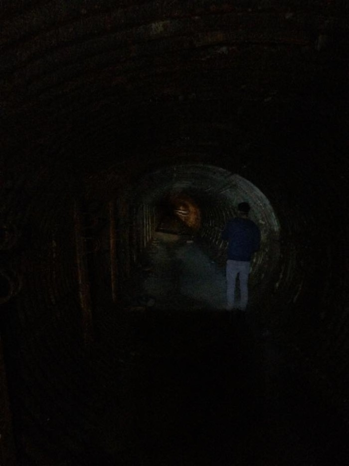 """""""First actual tunnel to 1 of the 3 silos."""""""