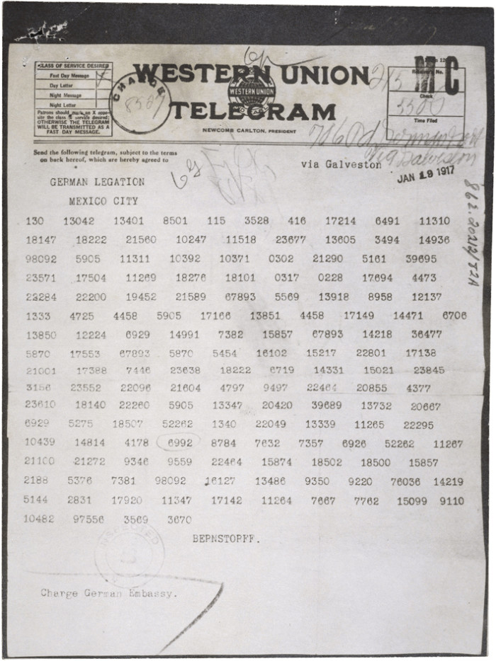 3. In 1917, a telegram between Mexico and Germany was intercepted which promised to return Arizona and several other western states to Mexico should they develop a military alliance.