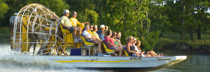 1. Take an airboat tour on the Platte River