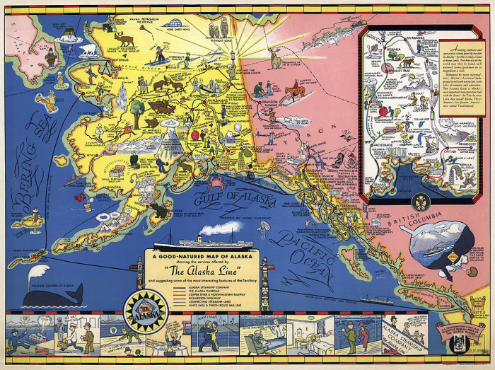 Maps Of Alaska That Hit The Nail On The Head - Alaska maps