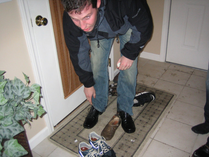 15.  People who don't take shoes off when they come to your house.