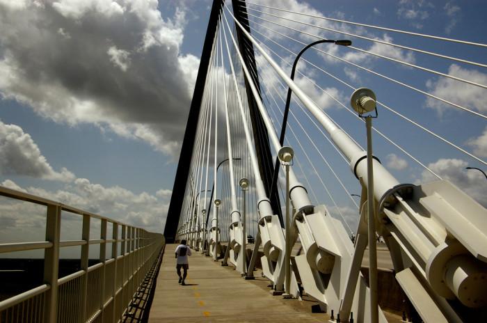17. Walk, run or bike the Arthur Ravenel Jr. Bridge connecting Charleston to Mount Pleasant, SC.