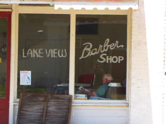 8. You can depend on the local barber shop as a great place to relax and catch up on everything in town.