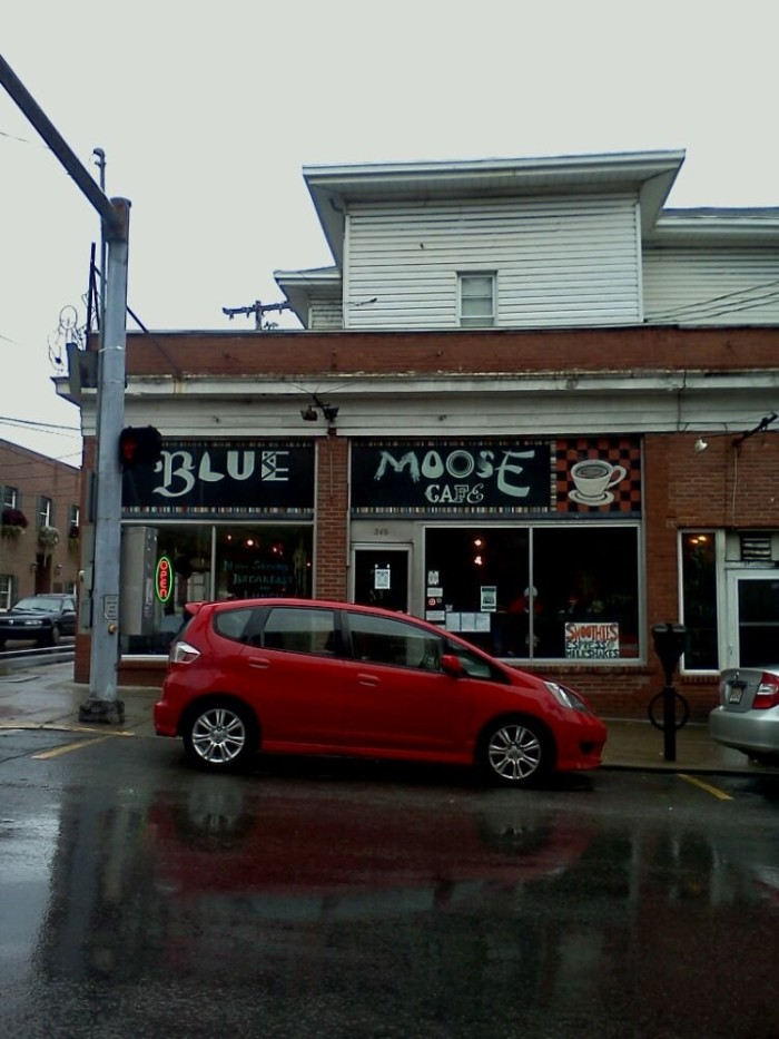 8. The Blue Moose Cafe in Morgantown
