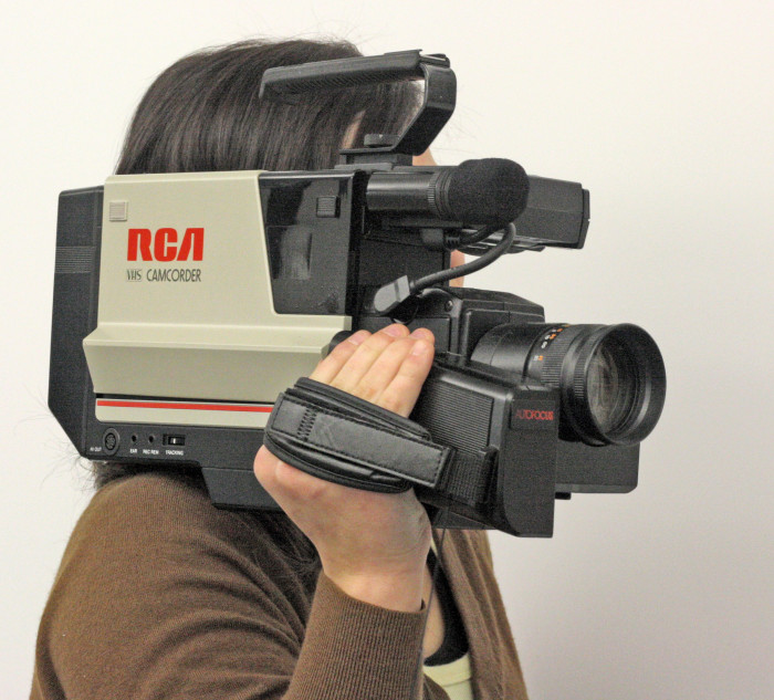 6. We marveled at people with camcorders.