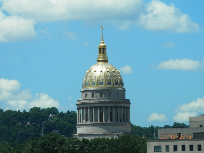 6. The gold dome of the Capitol building.