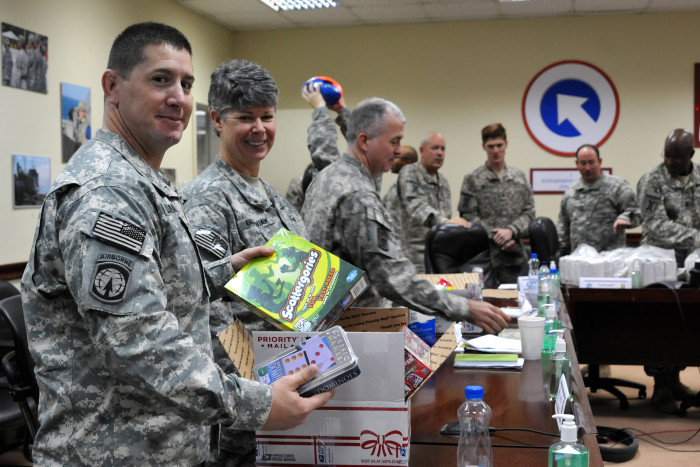 8. Put together care packages, make Christmas cards or write personal letters to soldiers serving overseas.