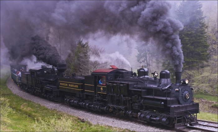 8. Take a ride on the Cass Scenic Railroad.