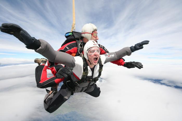 8.Skydiving.