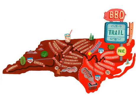 3. NC as strictly a land of BBQ.