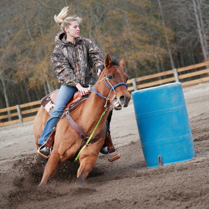 3. Extracurricular activities can get a whole lot more physical, like this Barrel Racing event near Bamberg.