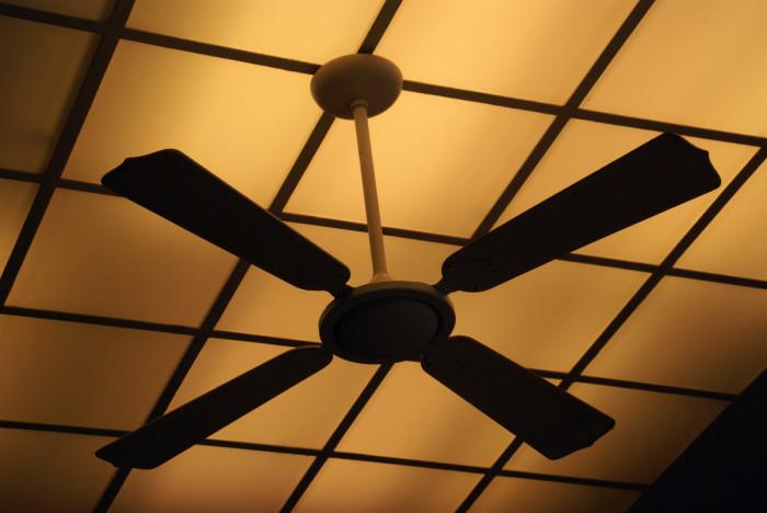 1.Set your ceiling fan in reverse.