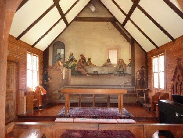7. Church of the Frescoes, Glendale Springs