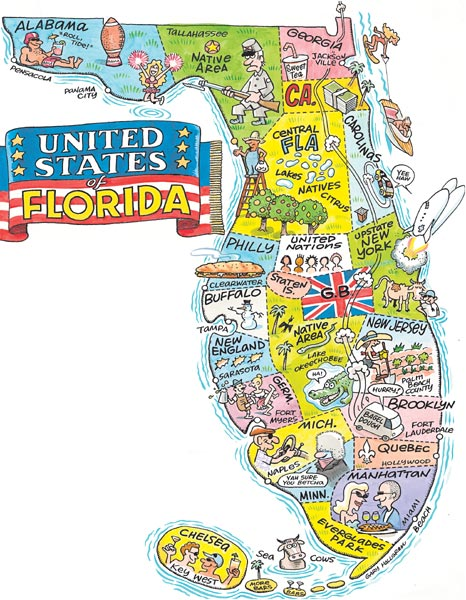 1. This map displays the United States  of Florida.