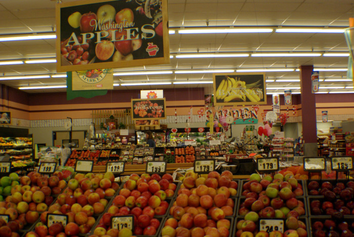 7. There were local grocery stores, not Walmarts.
