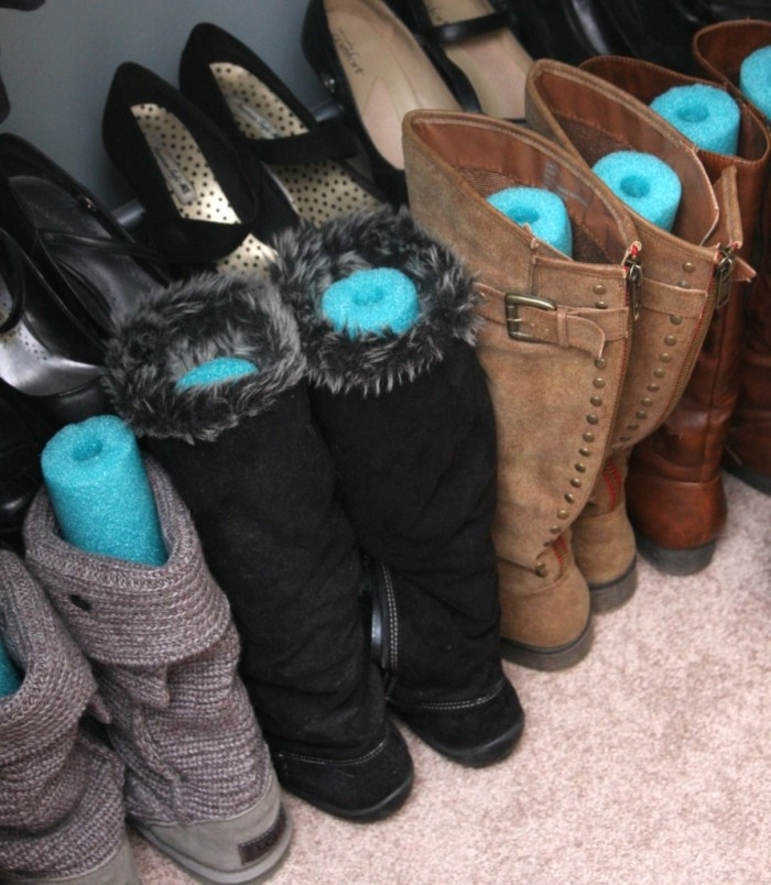 6.Save room and shape boots.