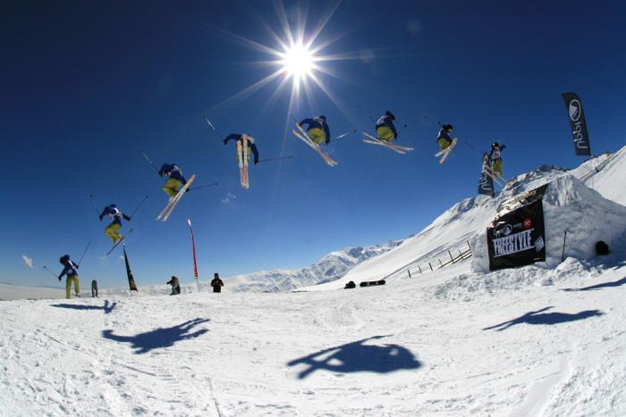 4.Freestyle skiing.