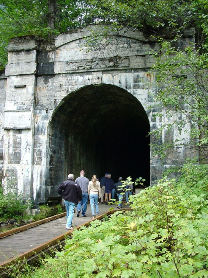 3. Discover the creepy Old Cascade Tunnel.