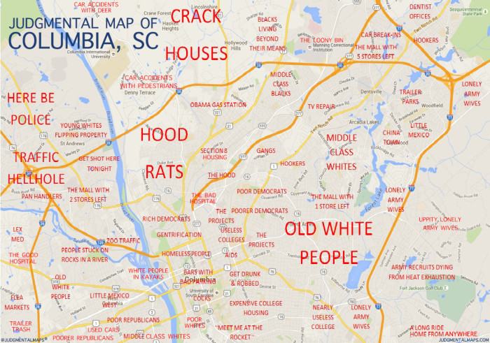 7 Funny South Carolina Maps