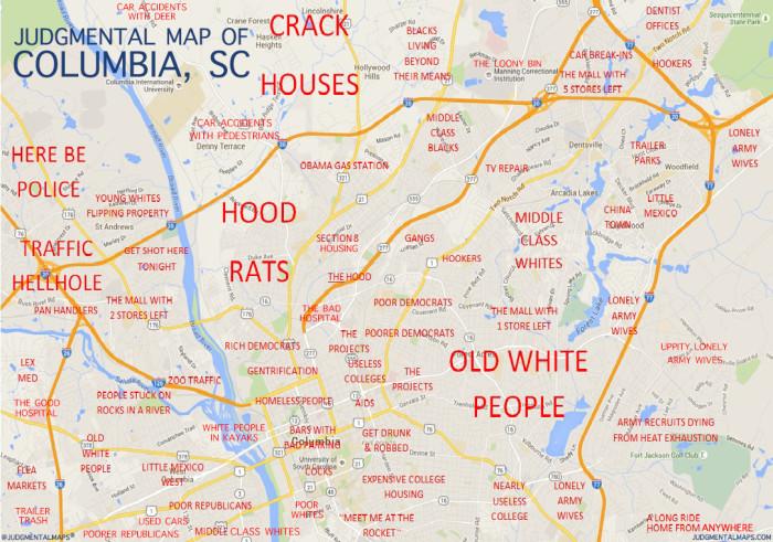 Funny South Carolina Maps - Sc maps