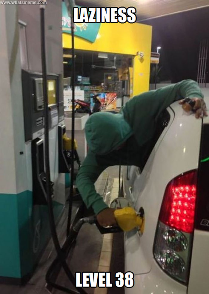 8. Put gas in your car from the backseat to really stay warm when its below zero!