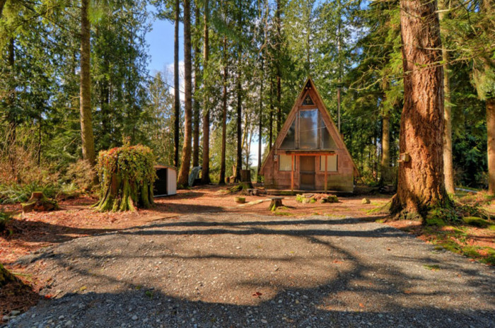 8. Stay cozy in this Little A-Frame in Granite Falls.