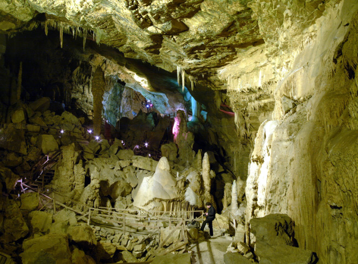 7. Lost World Caverns in Lewisburg always looks like another planet