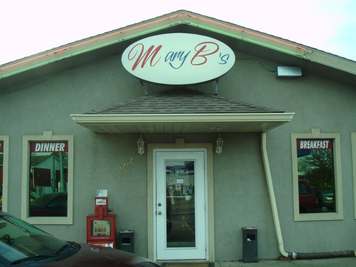 11. Mary B's Diner in Parkersburg