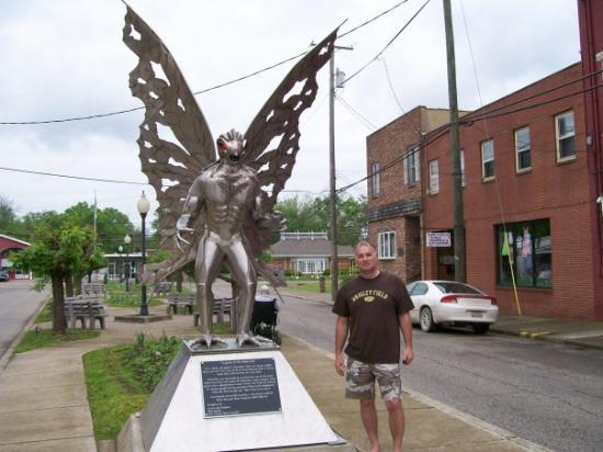 21. Get your picture taken with Mothman.