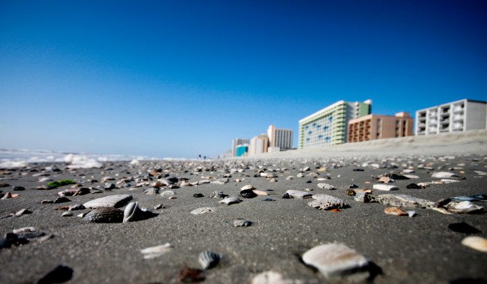 3. Myrtle Beach, SC - Moon surface with space buildings in the distance?