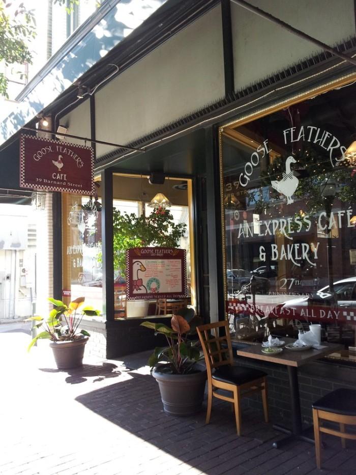 3.  Goose Feathers Cafe & Bakery - 39 Barnard St Savannah, GA 31401
