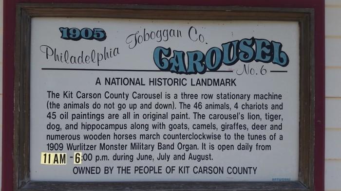1. Historic Kit Carson County Carousel.