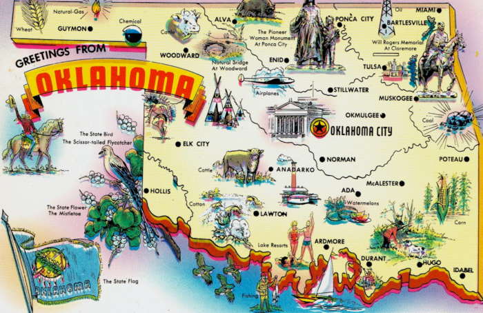 State Of Oklahoma Map With Cities.16 Funny Maps Of Oklahoma