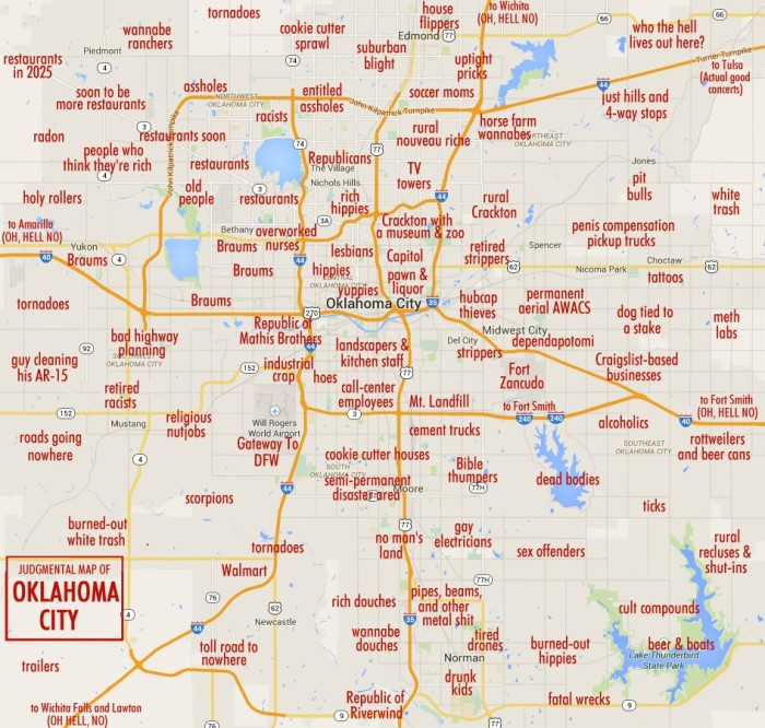 16 Funny Maps of Oklahoma
