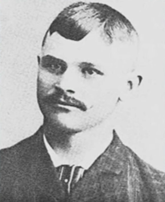 """Frank Lugert, an Austrian immigrant and town founder, came to America at the age of 13. His parents put him on a ship with a sign around his neck that read, """"This boy is an orphan, must not be harmed."""""""